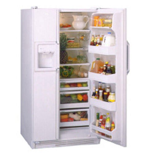 GE Profile™ 21.6 Cu. Ft. Capacity Side by Side Refrigerator with LightTouch! Dispenser