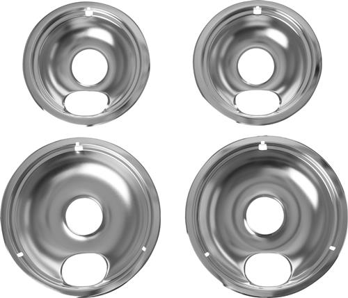 Non-GE Chrome Electric Range Drip Bowls – 4 Pack — Model #: AO68CC