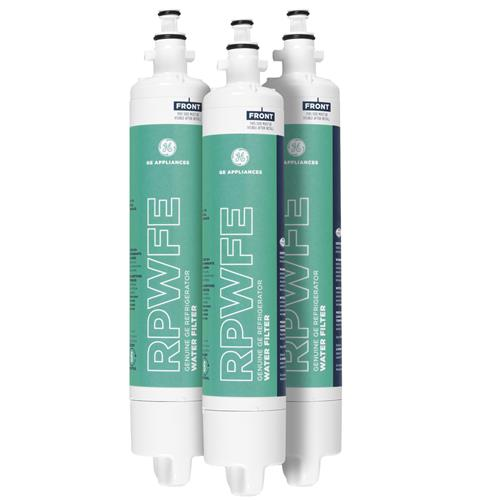 GE® RPWFE REFRIGERATOR WATER FILTER 3-PACK — Model #: RPWFE3PK