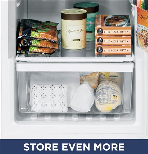 Clear slide-out freezer bins