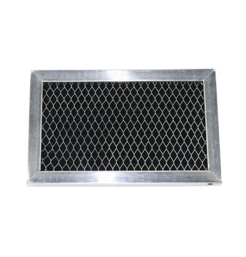 Charcoal filter replacement for microwaves with grille and filter door