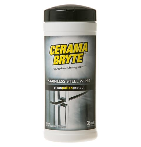 Cerama Bryte Stainless Steel Wipes — Model #: WX10X10004