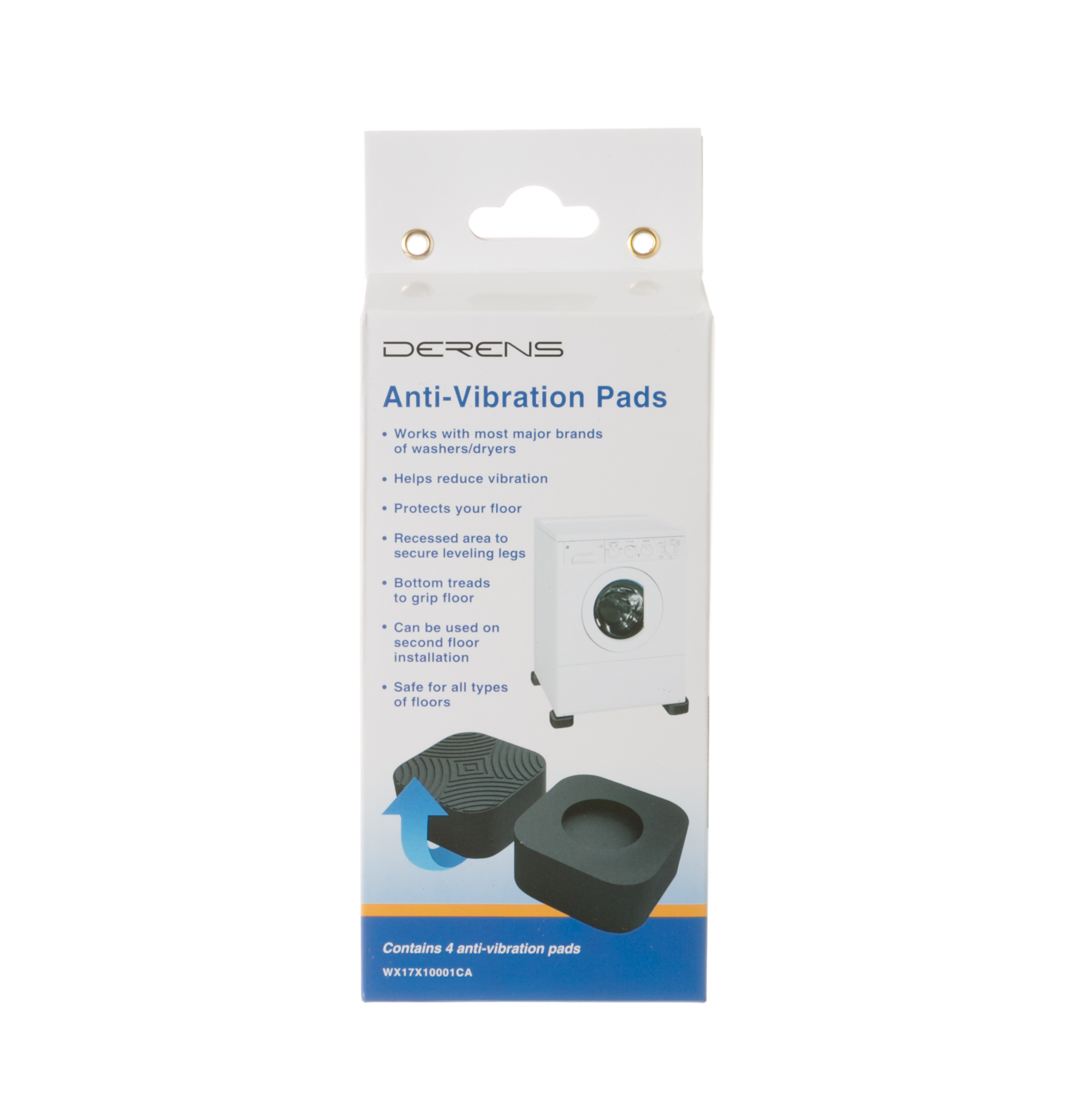 Wx17x10001ca Washer Dryer Anti Vibration Pads Contains