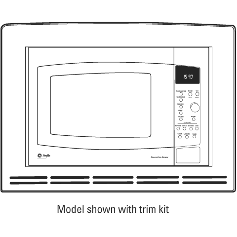Countertop Microwave Convection Oven With Trim Kit : JE1590CH - GE Profile? Countertop Convection/Microwave Oven - The ...