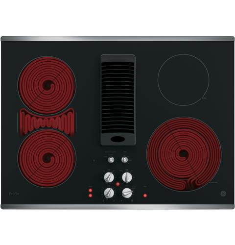 Ge Radiant Cooktops ~ Ge profile™ series quot downdraft electric cooktop