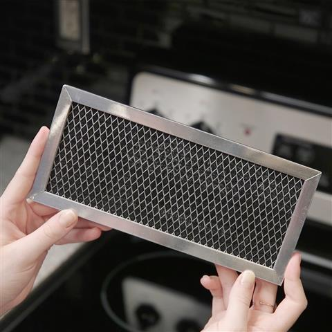 Charcoal filter replacement for microwaves with behind the door grille